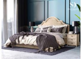 Кровать Квин Queen (ткань беж 01) СКИДКА -50%!