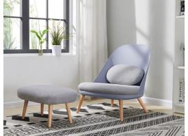 Кресло RX-12W BLUE+ банкетка RX-T A652-14