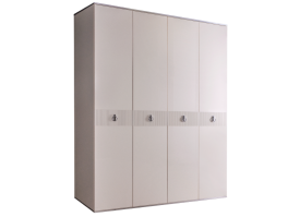Шкаф 4-дв.Римини Соло без зеркал (слон.кость/серебро)СКИДКА -50%