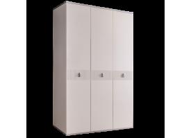 Шкаф 3-дв.Римини Соло без зеркал (слон.кость/серебро)СКИДКА -50%