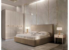 Спальня Диора+Римини Соло (латте/золото) СКИДКА -50%!