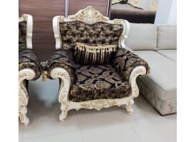 Кресло Валенсия 1 бежевая/черное золото