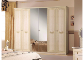 Шкаф 6-дверный Ирина беж - КУПИТЕ СО СКИДКОЙ