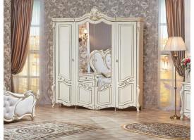 """Шкаф 4-дверный Беатрис крем """"Арида мебель"""""""