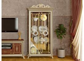 Витрина 2-дверная Версаль орех