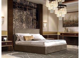 Спальня Диора+Римини 2 (орех орегон/золото) СКИДКА -50%!