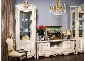 """Витрина 1-дверная Джоконда крем глянец """"Эра мебель"""""""