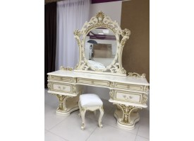 Туалетный стол с зеркалом Каролина крем/ Арида