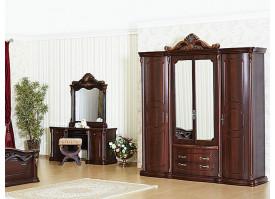 "Шкаф 4-дверный Меланж орех ""Арида мебель"""