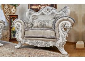 Кресло Лорд серебро (валей сильвер)