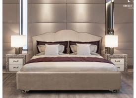 Кровать Лотос Lotos/ножки серебро (ткань беж 01) СКИДКА -50%!