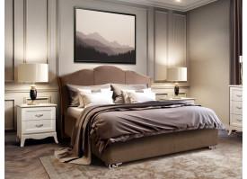 Кровать Лотос Lotos/ножки серебро (ткань 03) СКИДКА -50%!