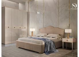 Спальня Лотос+Римини Соло (латте/золото) СКИДКА -50%!