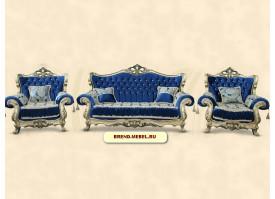Мягкая мебель Фараон (синяя)