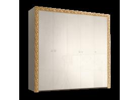 Шкаф 5-дверный Тиффани премиум золото без зеркал