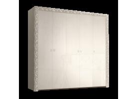 Шкаф 5-дверный Тиффани премиум серебро без зеркал