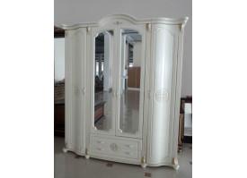 Шкаф 4-дверный Роза ваниль