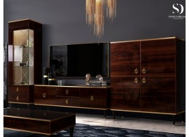 Гостиная ТВ Римини 2 (орех/золото) СКИДКА -50%