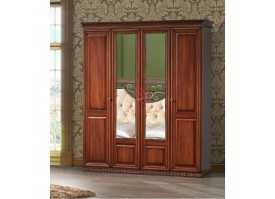 Шкаф 4-дверный Берта орех/ Арида мебель