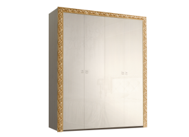 Шкаф 4-дверный Тиффани премиум золото без зеркал