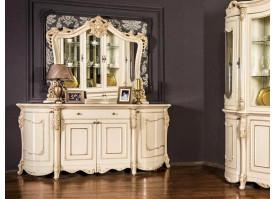 """Комод с зеркалом Джоконда крем глянец """"Эра мебель"""""""