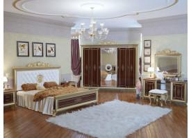 Спальня Версаль орех с мягким изголовьем