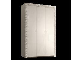 Шкаф 3-дверный Тиффани премиум серебро без зеркал