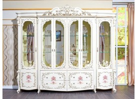 """Шкаф-витрина 6-дв. Венеция классик крем """"Арида мебель"""""""