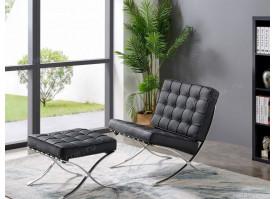 Кресло W120-06B черное + Банкетка W120-06А