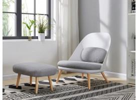 Кресло RX-12W WHITE+ банкетка RX-T A652-14