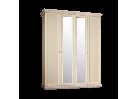 Шкаф 4-дверный Тиффани серебро с зеркалами АКЦИЯ! СКИДКА - 40 %