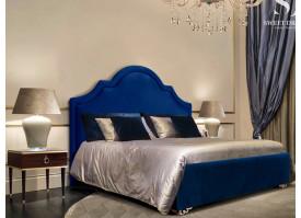 Кровать Квин Queen/ножки золото (ткань синяя 04) СКИДКА -50%!