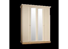 Шкаф 4-дверный Тиффани золото с зеркалами АКЦИЯ! СКИДКА - 40 %