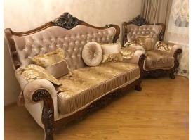 Мягкая мебель Фараон (темный орех)